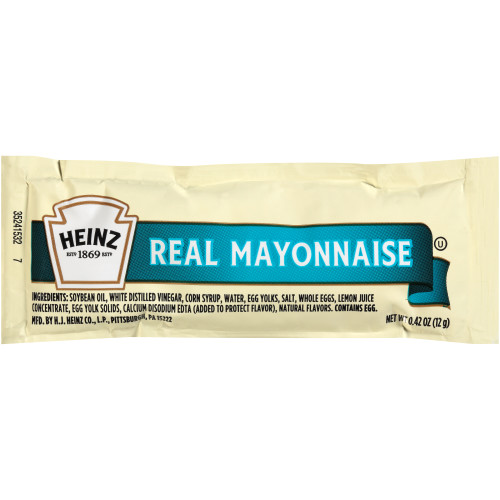 HEINZ Single Serve Mayonnaise, 12 gr. Packets (Pack of 500)