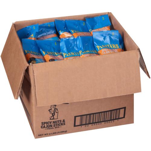 Planters Spicy Nuts & Cajun Sticks Trail Mix Spicy Peanuts, Corn Nuts, Corn Kernels Cajun Sesame Corn Sticks, 72 ct Casepack, 2 oz Packs