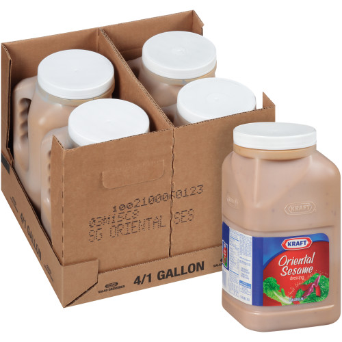 KRAFT Signature Oriental Sesame Salad Dressing, 1 gal. Jugs (Pack of 4)