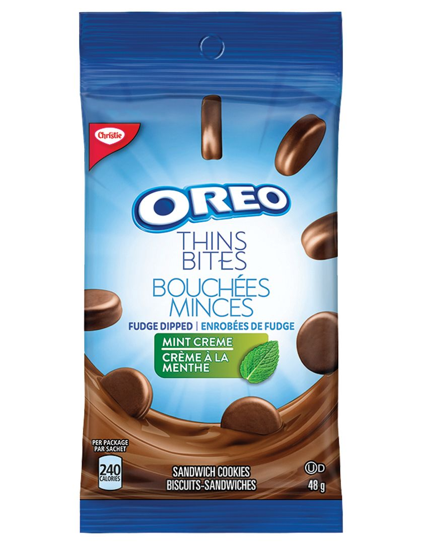 Oreo Thin Bites Dipped Mint Creme Cookies 48 G