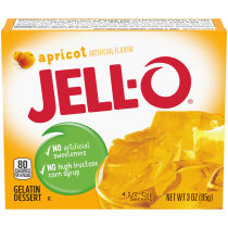 Jell-O Apricot Gelatin Mix, 3 oz Box