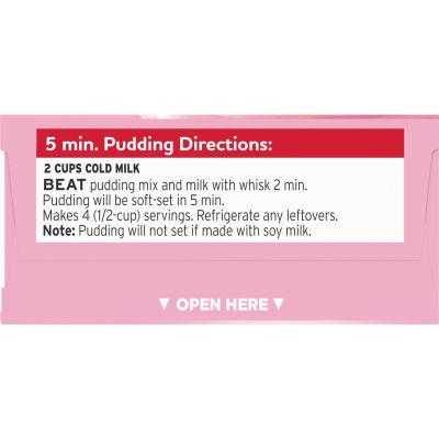 Jell-O Strawberry Creme Instant Pudding 3.4 oz Box