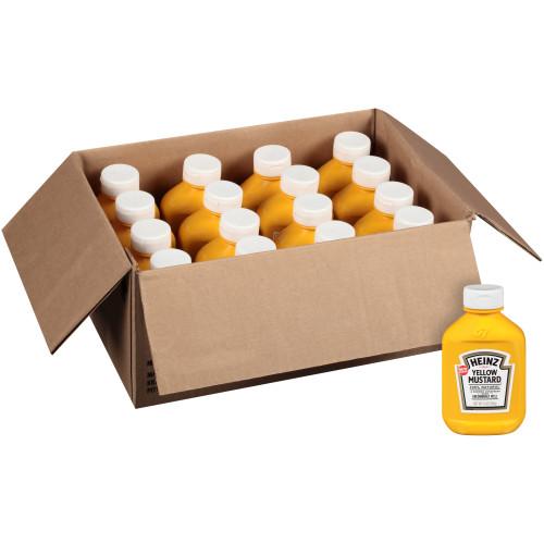 HEINZ Yellow Mustard, 16.9 oz. FOREVER FULL Bottle (Pack of 16)