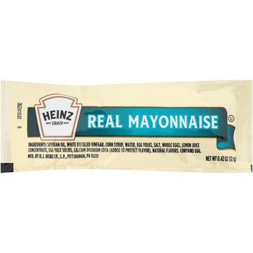 HEINZ Single Serve Mayonnaise, 12 gr. Packets (Pack of 200)