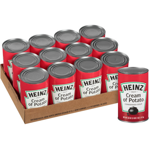 HEINZ Cream of Potato Soup, 50 oz. Can, (Pack of 12)