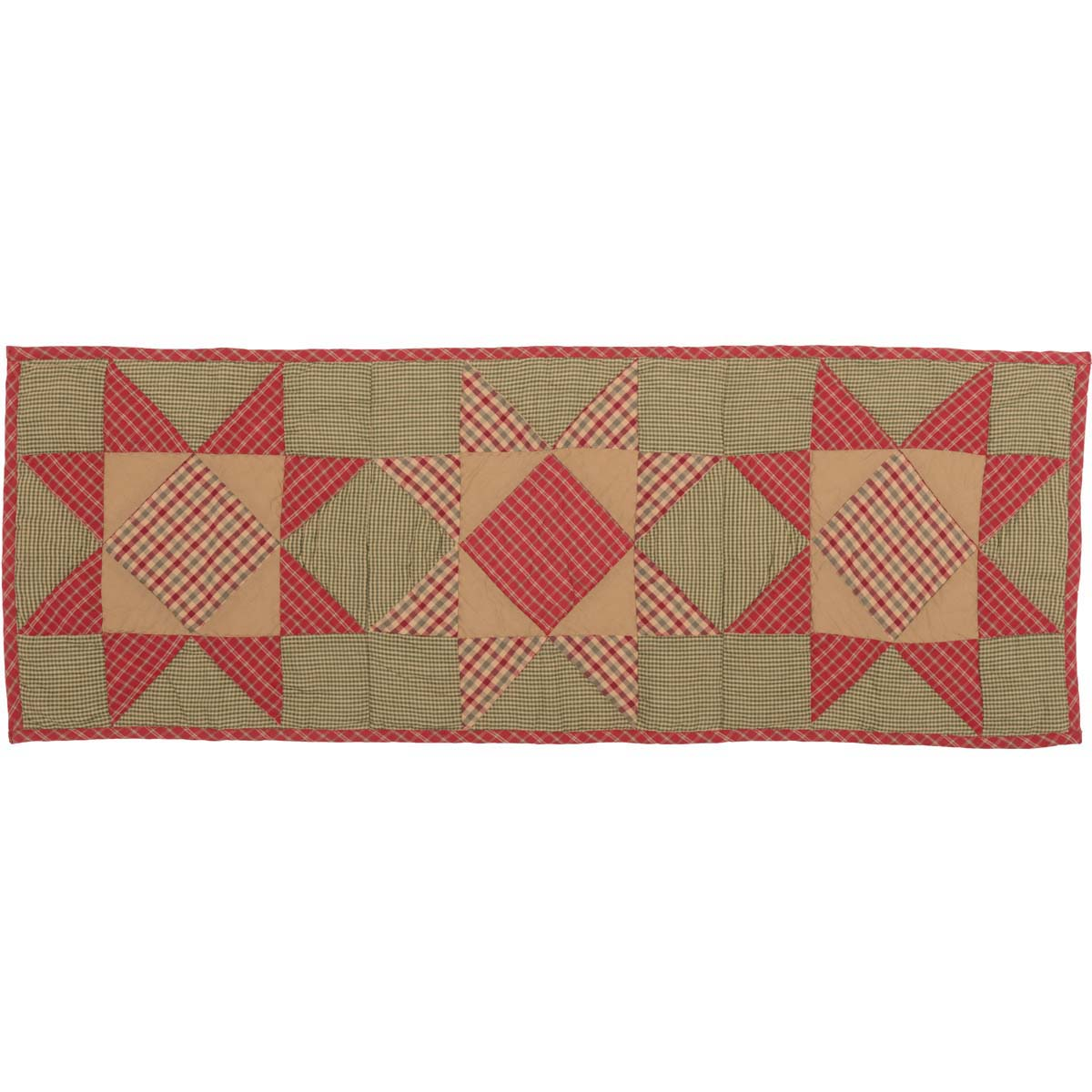 Dolly Star Quilted Runner 13x36