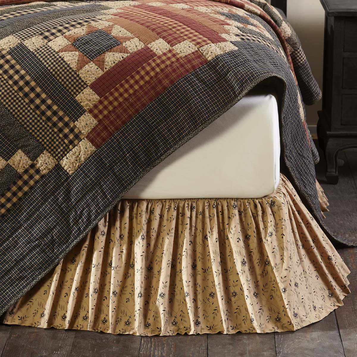 Maisie King Bed Skirt 78x80x16