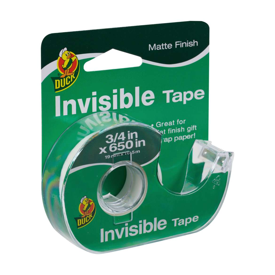 Duck® Brand Matte Finish Invisible Tape - Clear, .75 in. x 650 in. Image