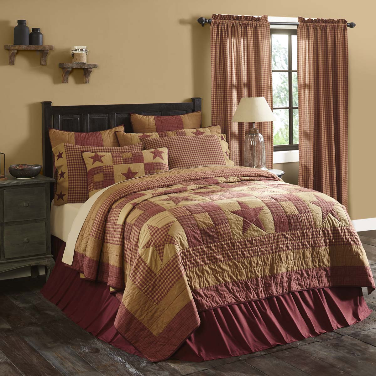 Ninepatch Star Twin Quilt 68Wx86L