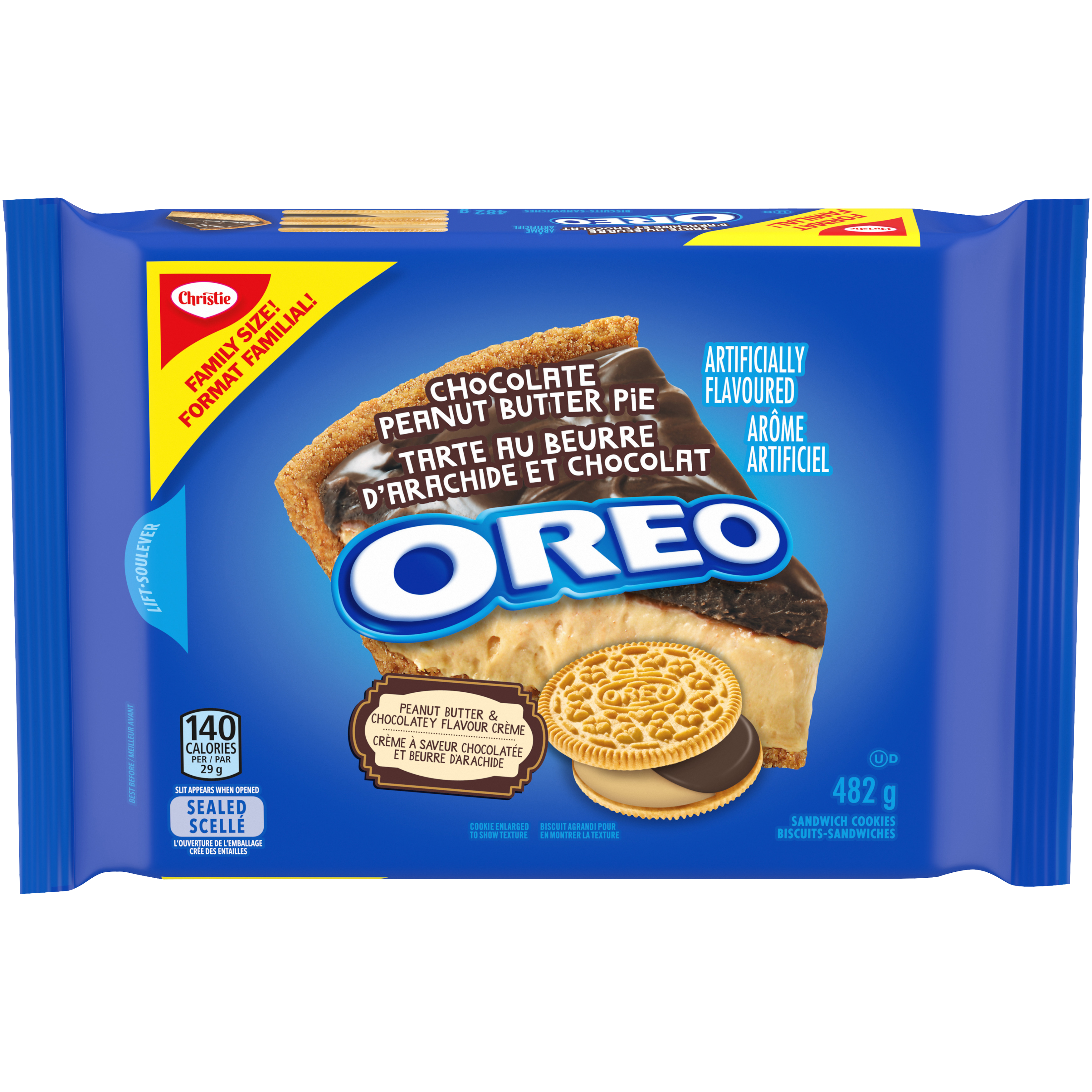 Oreo Double Stuf Chocolate Peanut Butter Pie Cookies 482 G