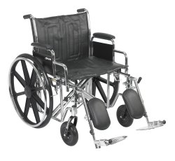 Wheelchair, McKesson, Dual Axle Desk Length Arm Padded, Removable Arm Style Composite Wheel Black 22 Inch Seat Width 450 lbs. Weight Capacity, 146-STD22ECDDA-ELR - EACH