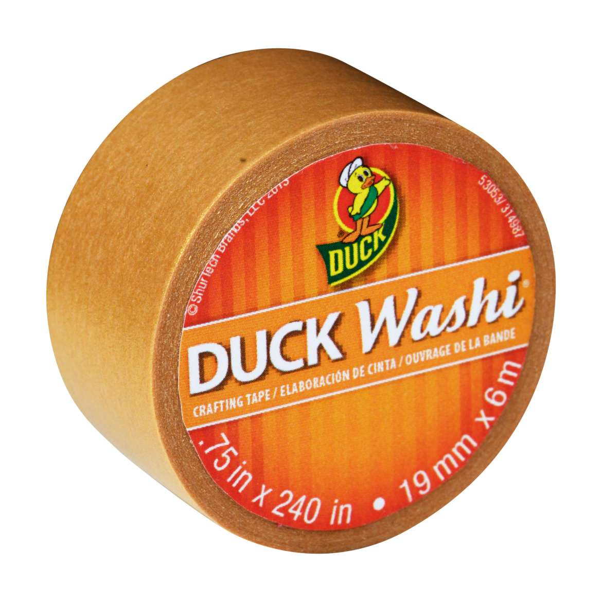 Duck Washi® Crafting Tape - Gold, .75 in. x 240 in. Image