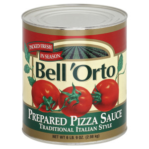 Bell'Orto Traditional Pizza Sauce Tin, 6 lb. image
