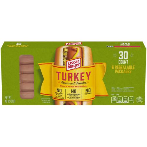 Oscar Mayer Turkey Franks Box, 30 count