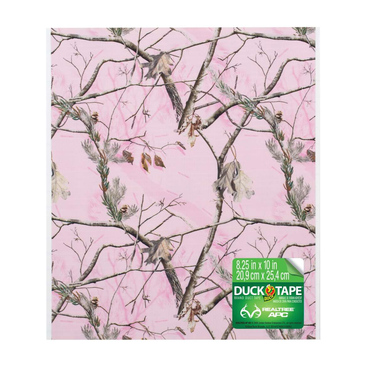 Printed Duck Tape® Sheets - Realtree® Pink Camo, 6 pk, 8.25 in. x 10 in. Image