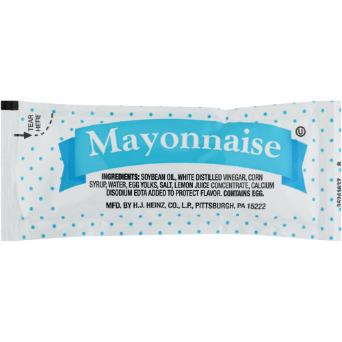 PPI Single Serve Mayonnaise, 9 gr. Packets (Pack of 200)
