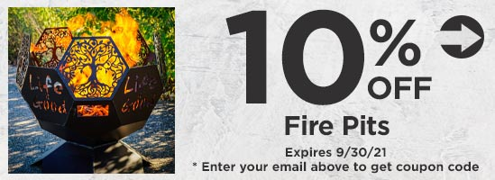 10% Off Fire Pits