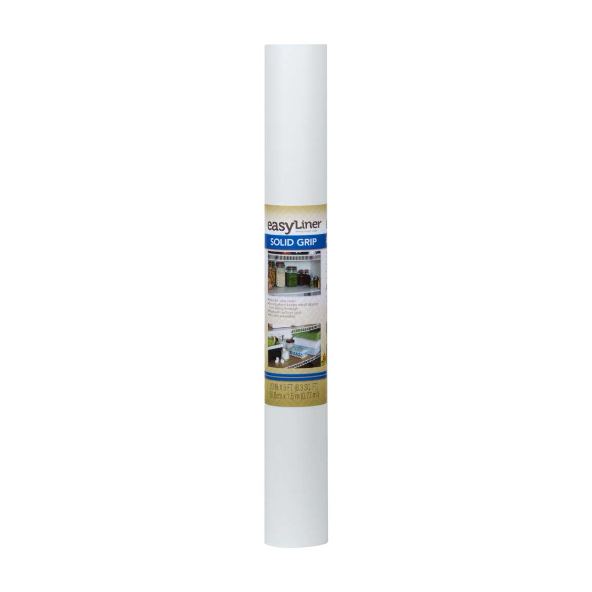 Solid Grip Easy Liner® Brand Shelf Liner - White, 20 in. x 5 ft. Image