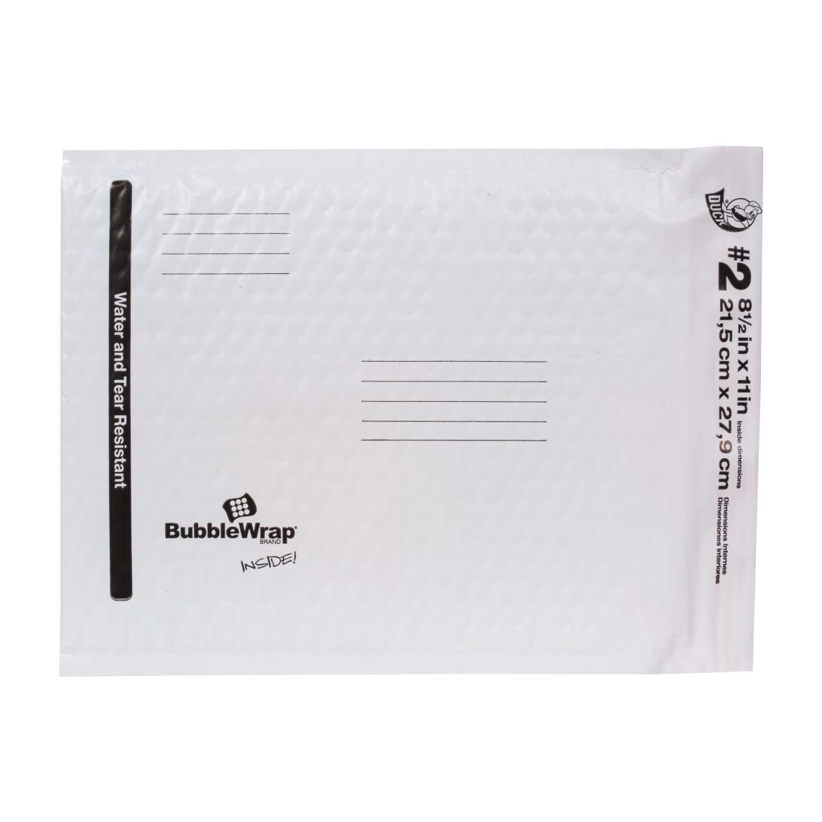 Bubble Wrap® Cushioned Poly Envelope - White, 8.5 in. x 11 in. Image