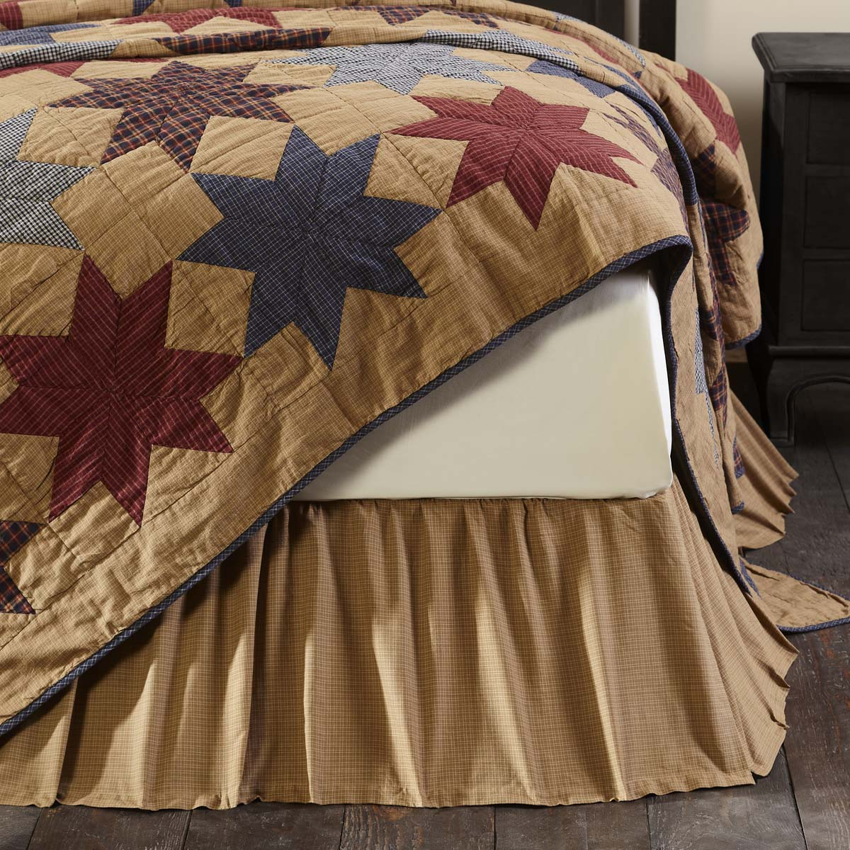 Kindred Star King Bed Skirt 78x80x16