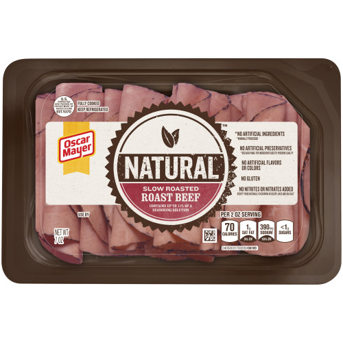 Oscar Mayer Natural Slow Roasted Roast Beef Tray, 7 oz