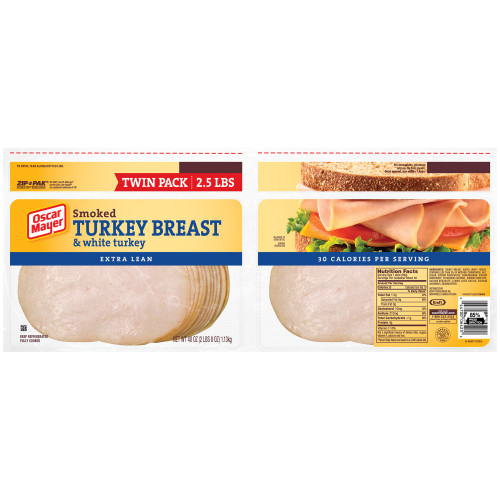 Oscar Mayer Smoked Turkey Breast, 40 oz