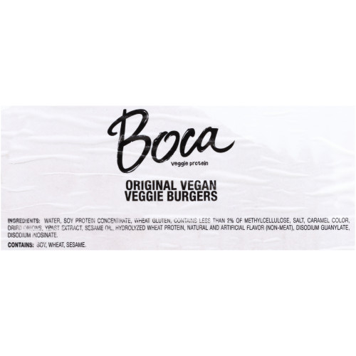 BOCA Original Vegan Burger, 5 oz. Patty (Pack of 48)