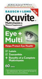 Ocuvite Eye + Multi Multivitamin Supplement Vitamin A / Ascorbic Acid 1000 IU - 150 mg Strength Tablet 60 per Bottle, 32420873510 - 1 Bottle