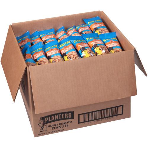 PLANTERS Honey Roasted Peanuts, 2 oz. Single Serve (Pack of 144)