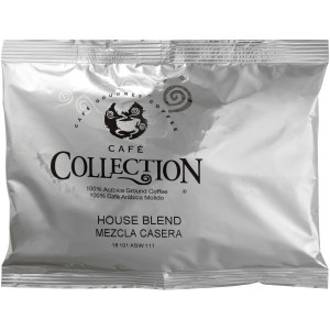 CAFÉ COLLECTIONS House Blend Roast & Ground Coffee, 5 oz. Bag (Pack of 64) image