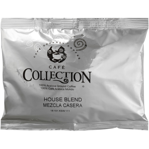 CAFÉ COLLECTIONS House Blend Roast & Ground Coffee, 5 oz. Bag (Pack of 64)