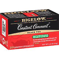 Bigelow Constant Comment Decaf Tea - Case of 6 boxes- total of 120 teabags