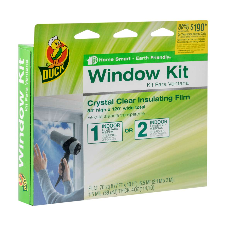 Duck® Brand Shrink Film Window Insulation Kit - Indoor, 84 in. x 120 in. Image