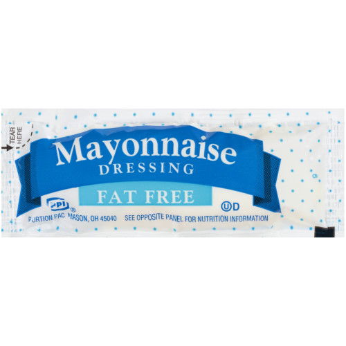 PPI Single Serve Fat Free Mayonnaise Dressing, 12 gr. Pouches (Pack of 200)