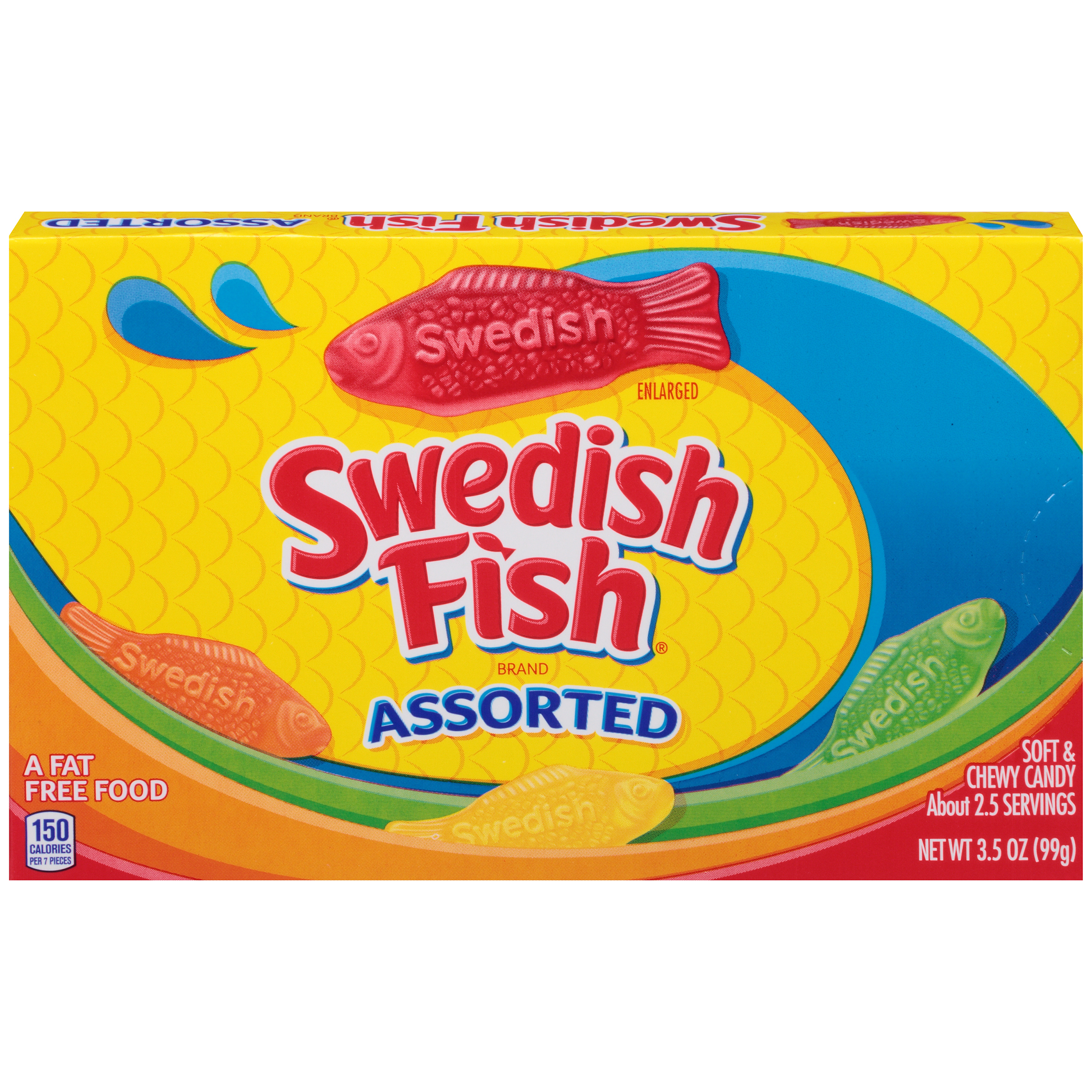 SWEDISH FISH Soft & Chewy Assorted Soft Candy 3.5 oz