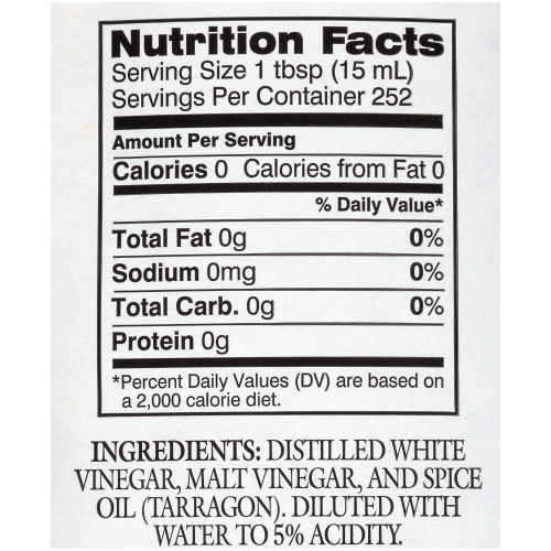 HEINZ Gourmet Tarragon Vinegar, 1 gal. Jug (Pack of 4)