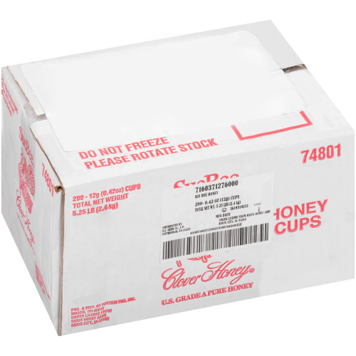 SUE BEE Single Serve Clover Honey, 12 gr. Cups (Pack of 200)