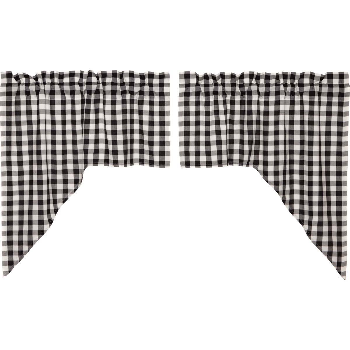 Annie Buffalo Black Check Swag Set of 2 36x36x16