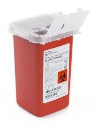 Sharps Container, McKesson Prevent, 6-1/4 H X 4-1/4 W X 4-1/4 D Inch 1 Quart Red, 065 - EACH