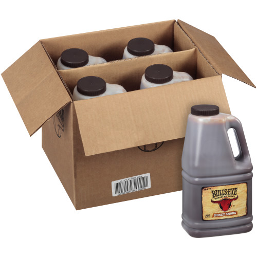 BULL'S-EYE Honey Smoked BBQ Sauce, 1 gal. Jugs (Pack of 4)