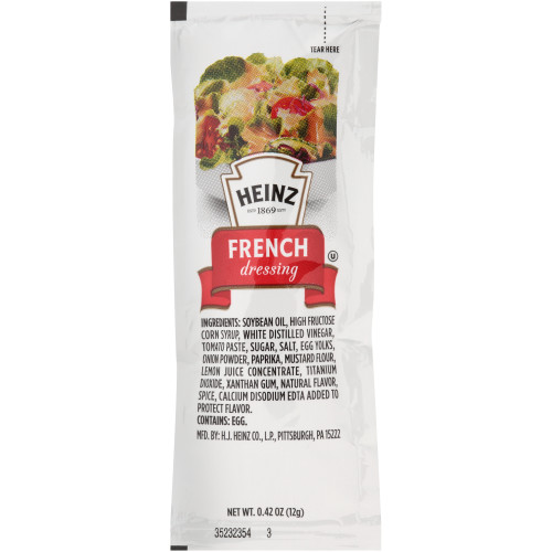 HEINZ Single Serve French Salad Dressing, 12 gr. Packets (Pack of 200)