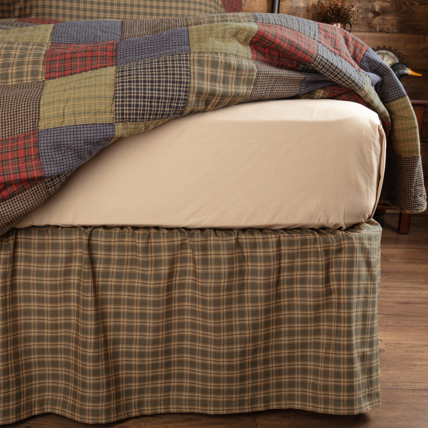 Cedar Ridge King Bed Skirt 78x80x16