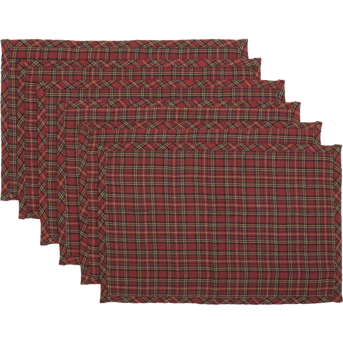 Tartan Holiday Placemat Set of 6 12x18