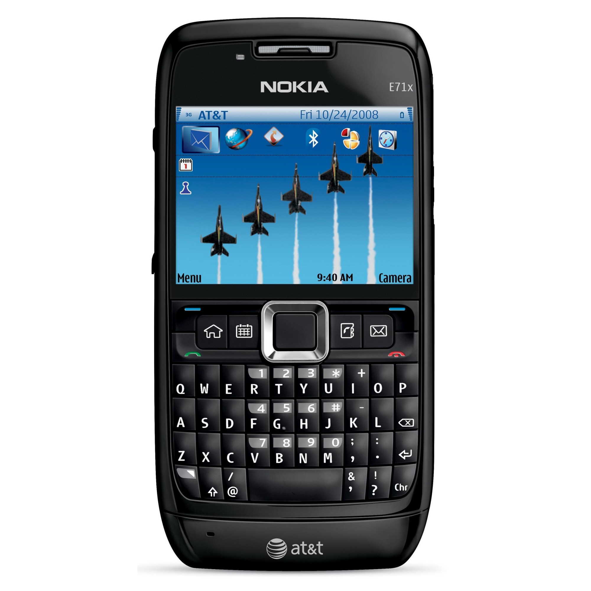 nokia e71x at amp t phone w qwerty keyboard amp five way scroll