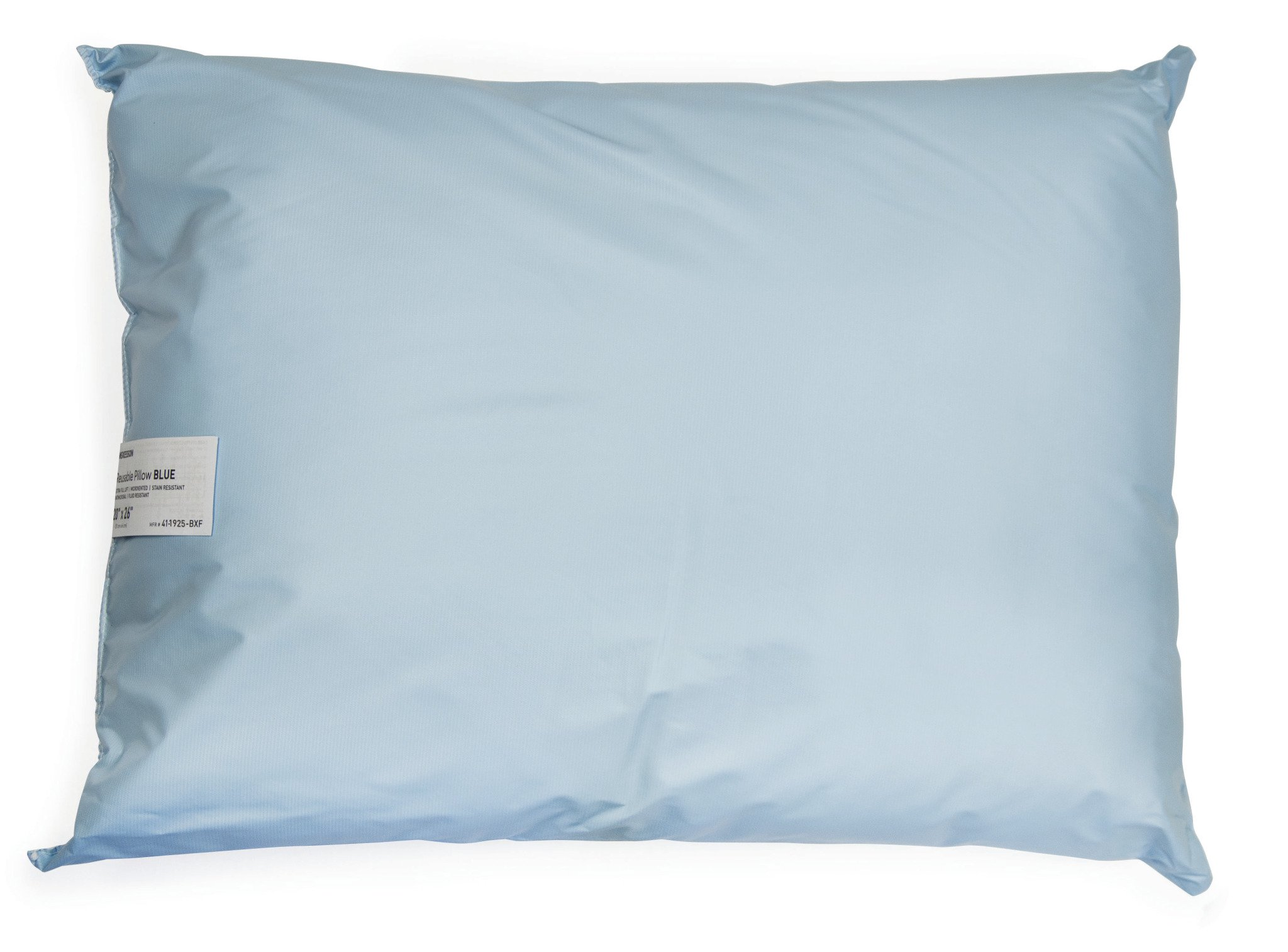 Bed Pillow, McKesson, 19 X 25 Inch Blue Reusable, 41-1925-BXF - Case of 12