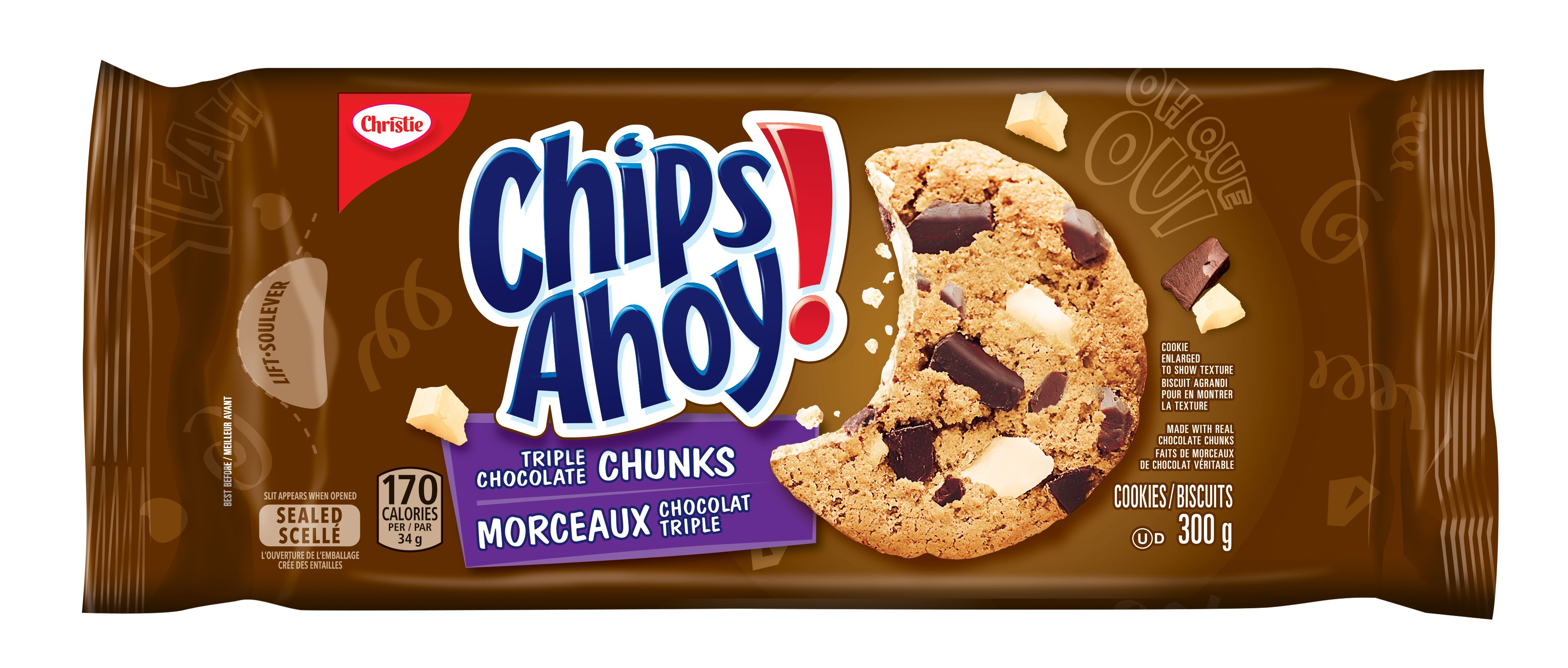 CHIPS AHOY!  TRIPLE CHOCOLATE CHUNKS 300 GRM