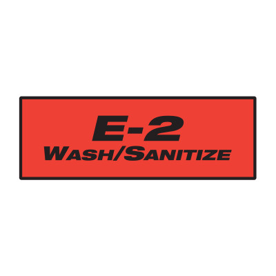 GOJO® E2 Foam Sanitizing Soap Dispenser Labels