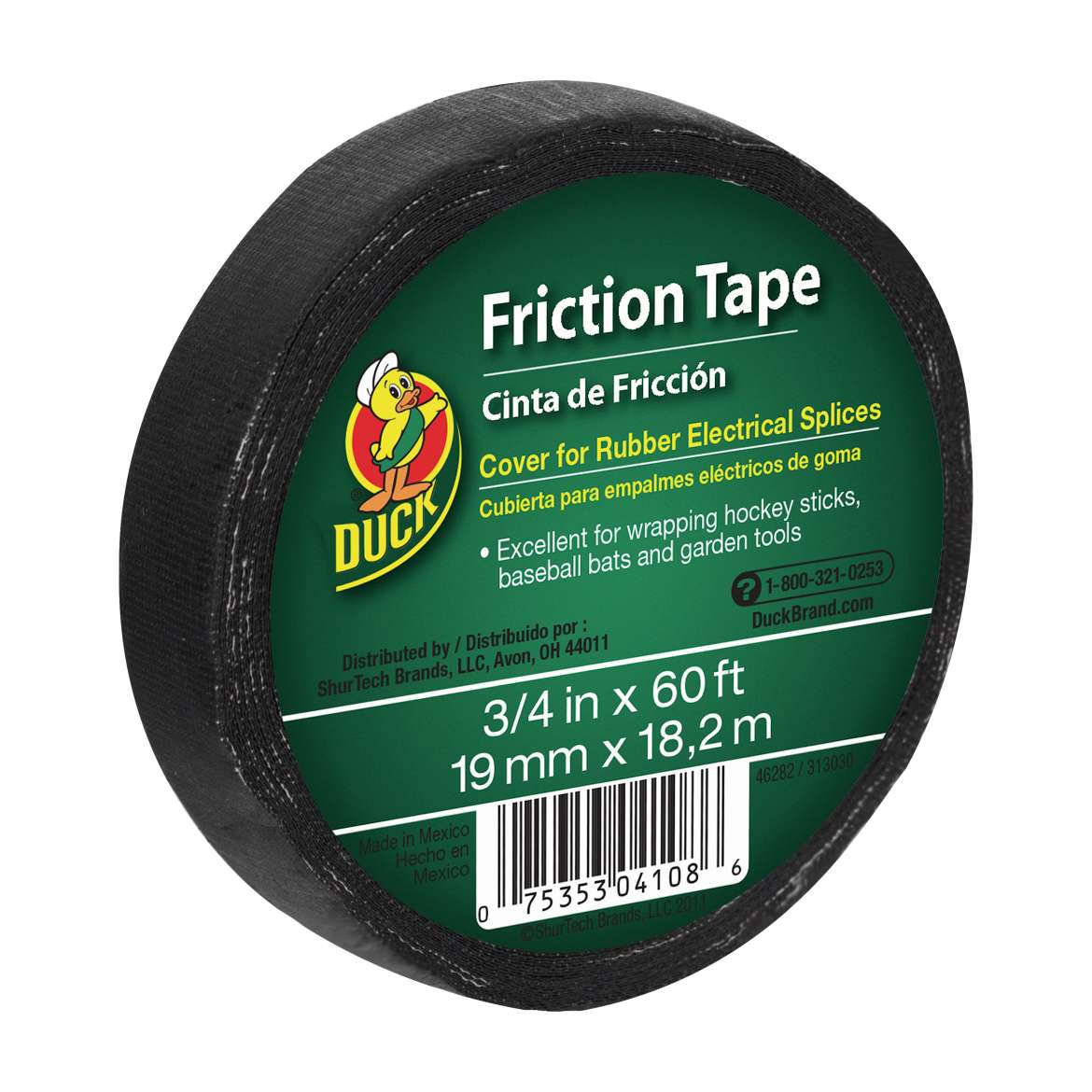 Duck® Brand Friction Tape - Black, .75 in. x 60 ft. Image
