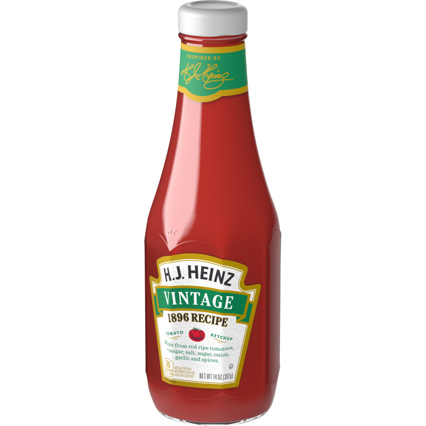Vintage 1896 Original Ketchup (14 oz. glass bottle)