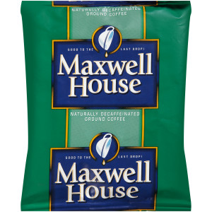 MAXWELL HOUSE Decaffeinated Roast & Ground Coffee, 1.7 oz. Packets (Pack of 96) image
